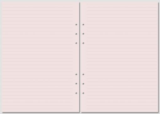 Бланки в линейку Filofax A5 pink