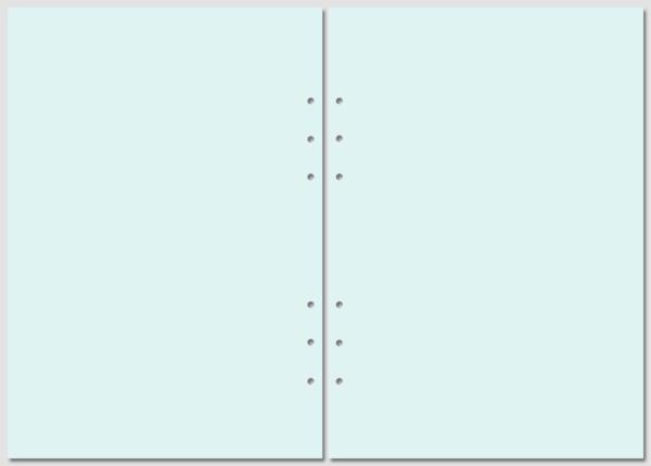 Бланки нелинованные Filofax A5 blue