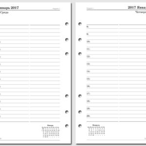 День на странице 2017 Filofax Personal