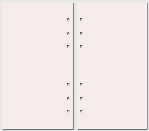 Бумага для записей Filofax Personal розовый