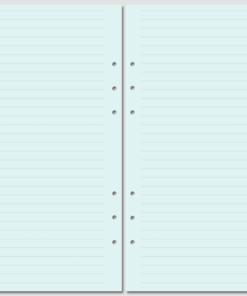 Бланки в линейку Filofax A5 blue