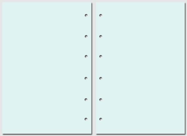 Бумага для записей Filofax Pocket голубая