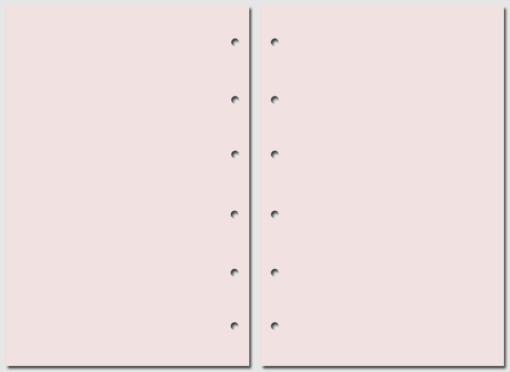 Бумага для записей Filofax Pocket розовая