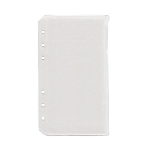 Пластиковый кармашек для Filofax на застежке