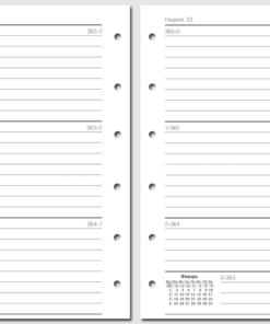 """Набор бланков для Filofax """"Неделя на развороте 2021"""", Pocket"""