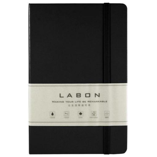 Записная книжка в линейку, Labons, черная, Large