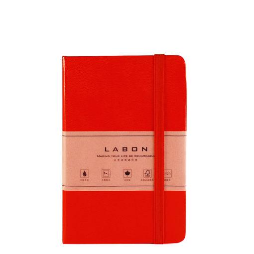 Записная книжка в клетку, Labons, red, Pocket