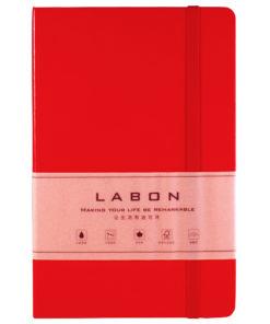 Записная книжка в клетку, Labons, red, Large