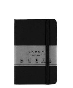Записная книжка в линейку, Labons, black, Pocket